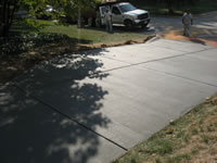 Newly poured driveway