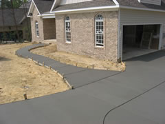 Bobby's Concrete does new sidewalks and driveways